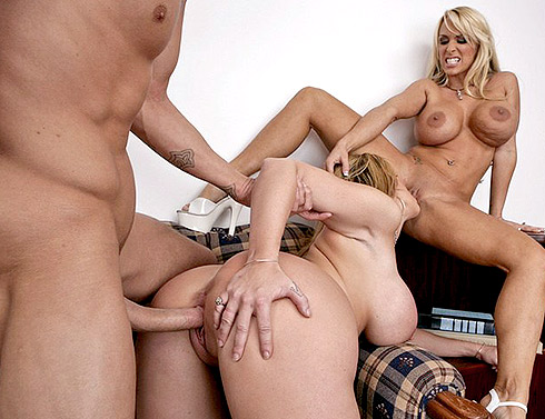 Hot Threesome with MILF Holly Halston and Sara Jay